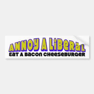 Eat A Bacon Cheeseburger Bumper Stickers