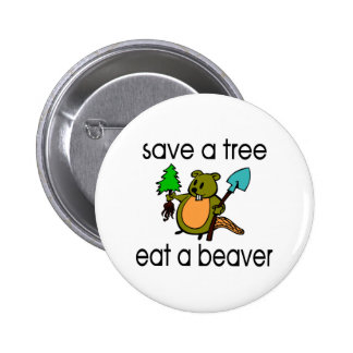 Eat A Beaver 2 Inch Round Button