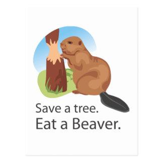 Eat A Beaver Postcard