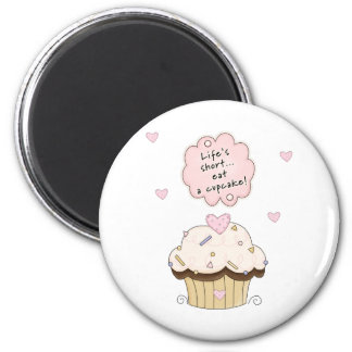 Eat A Cupcake 2 Inch Round Magnet