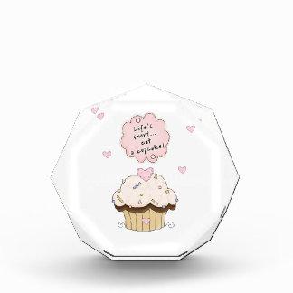 Eat A Cupcake Acrylic Award