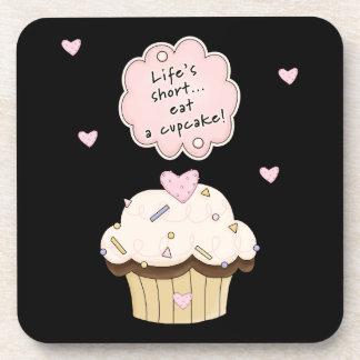 Eat A Cupcake Beverage Coaster