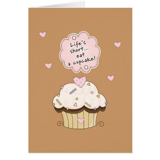 Eat A Cupcake Cards