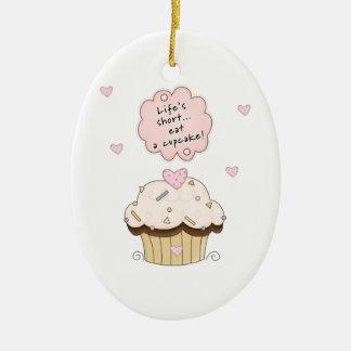 Eat A Cupcake Christmas Ornament