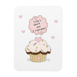 Eat A Cupcake Rectangular Photo Magnet
