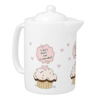 Eat A Cupcake Teapot