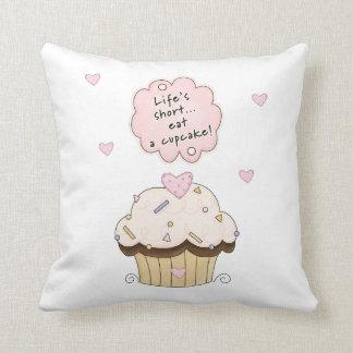 Eat A Cupcake Throw Pillow