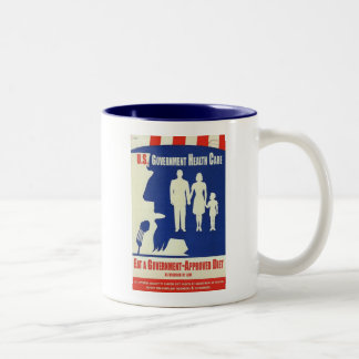 Eat a Government Approved-Diet Two-Tone Coffee Mug