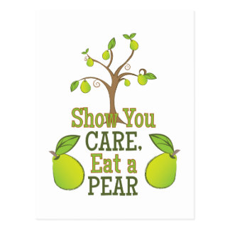 Eat A Pear Postcard