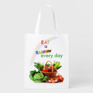 Eat A Rainbow Reusable Grocery Bag