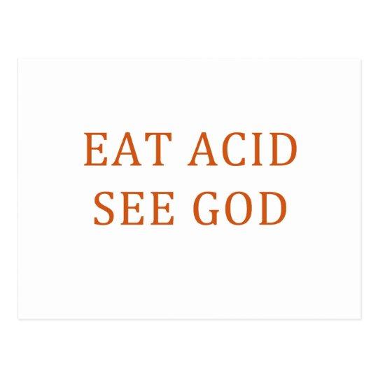 EAT ACID SEE GOD POSTCARD