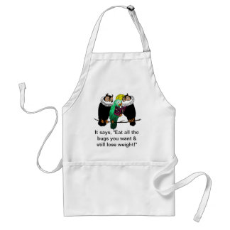 Eat all the bugs you want! adult apron