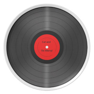 Eat and be Merry Vinyl Record Plate
