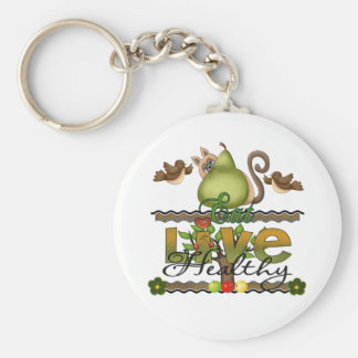 Eat and Live Healthy Keychain