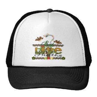 Eat and Live Healthy Trucker Hat