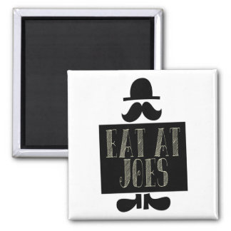 Eat at Joes 2 Inch Square Magnet