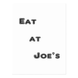 Eat at Joe's Post Card