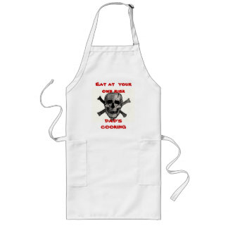 , Eat at  your own risk, DAD'S COOKING Long Apron