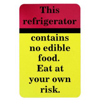 Eat at your own risk rectangular magnet