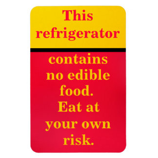 Eat at your own risk rectangular photo magnet