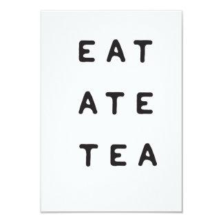 eat ate tea card