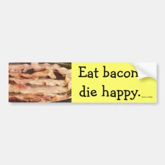 Eat Bacon Car Bumper Sticker
