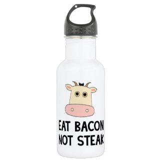 Eat Bacon Not Steak 18oz Water Bottle