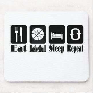 eat basketball sleep and repeat mouse pad