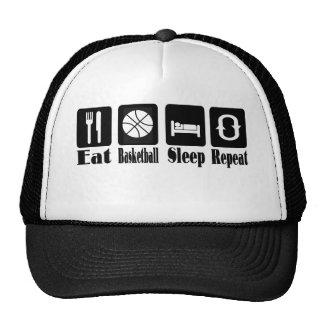 eat basketball sleep and repeat trucker hat
