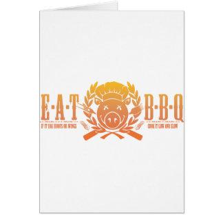 Eat BBQ Fade Card