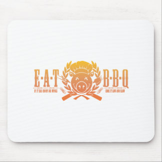 Eat BBQ Fade Mouse Pad