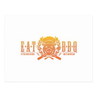Eat BBQ Fade Postcard