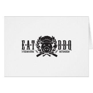 Eat BBQ Light Card