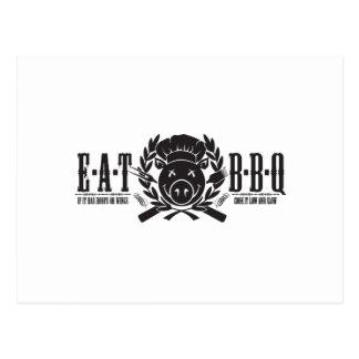Eat BBQ Light Postcard