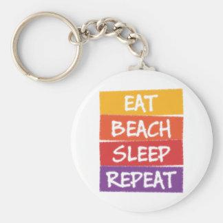 Eat Beach Sleep Repeat Keychain