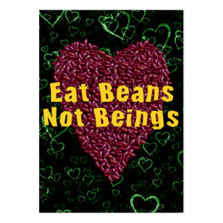 Eat Beans Not Beings Large Business Cards (Pack Of 100)