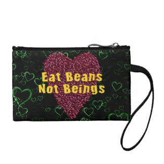 Eat Beans Not Beings Change Purse