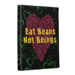 Eat Beans Not Beings iPad Folio Case