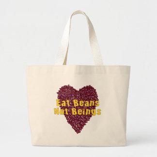 Eat Beans Not Beings Jumbo Tote Bag