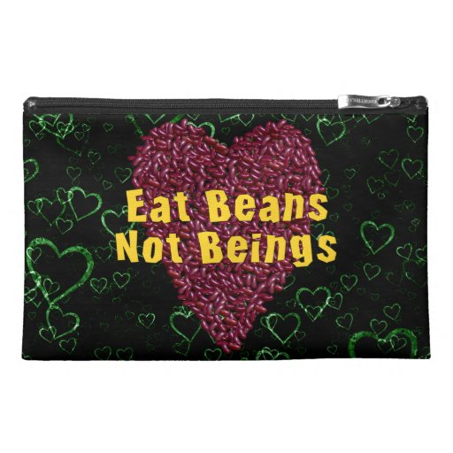 Eat Beans Not Beings Travel Accessory Bags