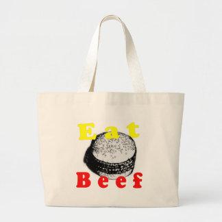 Eat Beef Large Tote Bag