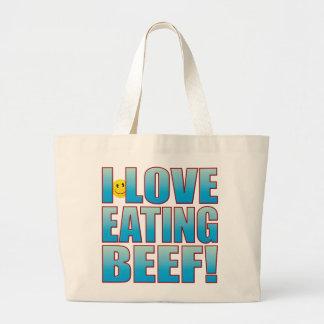 Eat Beef Life B Large Tote Bag