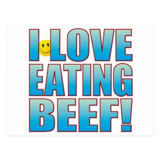 Eat Beef Life B Postcard