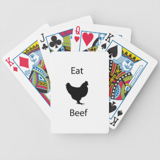 Eat beef bicycle playing cards