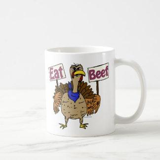 Eat Beef - Talking Turkey Coffee Mug