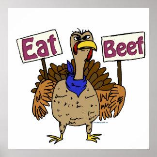Eat Beef - Talking Turkey Poster