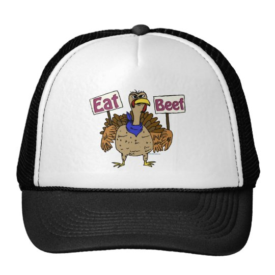 Eat Beef - Talking Turkey Trucker Hat
