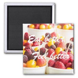 Eat better, feel better|| Berries Magnet