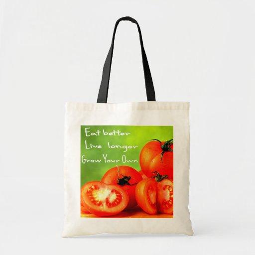 EAT BETTER LIVE LONGER TOTE BAGS