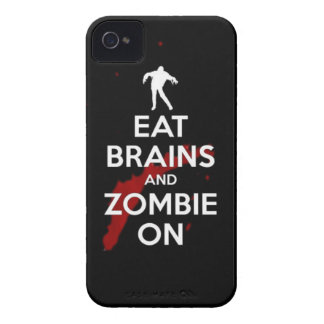 eat brains and zombie on Case-Mate iPhone 4 case